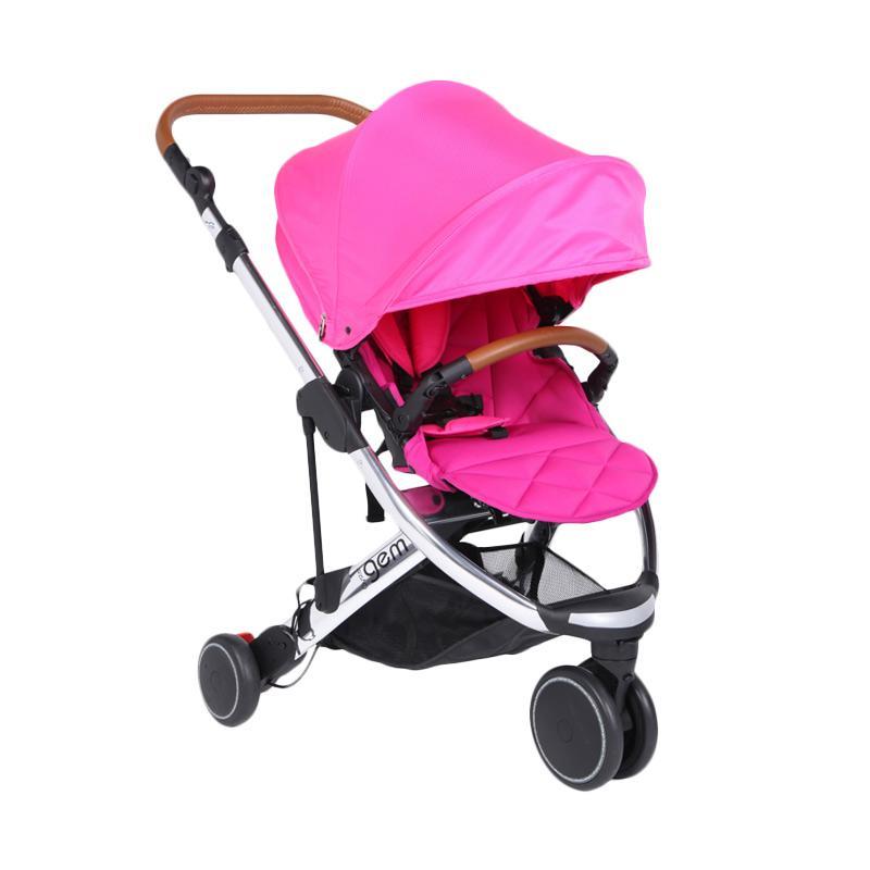 Babystyle Oyster Gem Chrome Baby Stroller Pink (seat liner+cup holder) - PROMO FREE Oyster Infant Carrier (random warna) Rp 1.790.000 + Adaptor