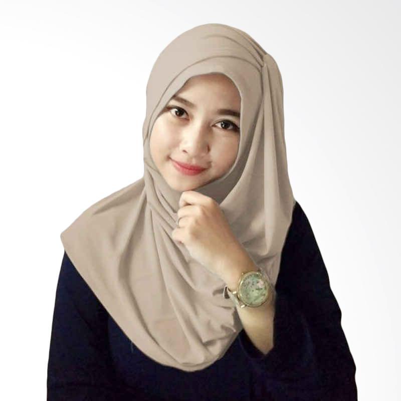 Hijabku Murah Hana Ceruti Hijab Instan - Coklat Muda