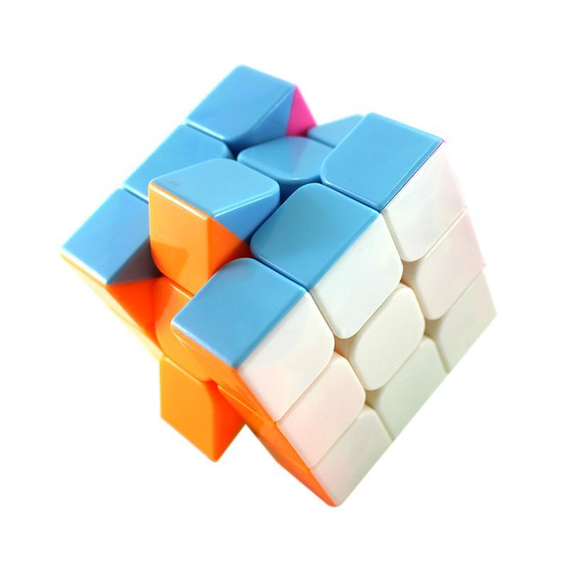 Rubik Kubus Mainan Edukasi Ultimate Two Tone Color