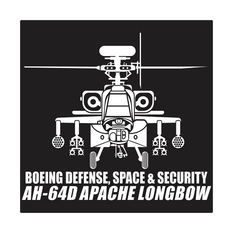Kyle AH - 64D Apache Longbow Rocket & Missile Cutting Sticker