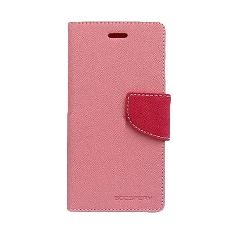 Mercury Fancy Diary Casing for SONY Xperia M2 S50h - Pink Magenta