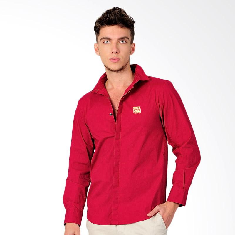 SJO & SIMPAPLY Costrow Embro Men's Shirt - Red