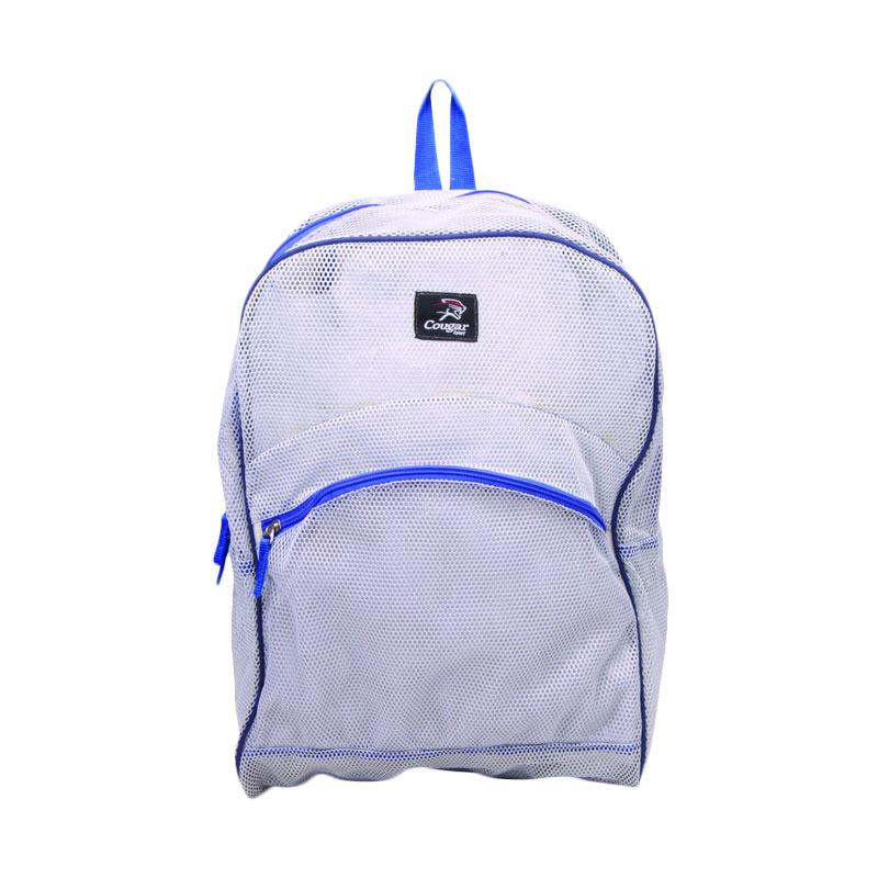 Cougar BBP.28 Mesh Backpack Sport Tas Pria - Light Grey Blue