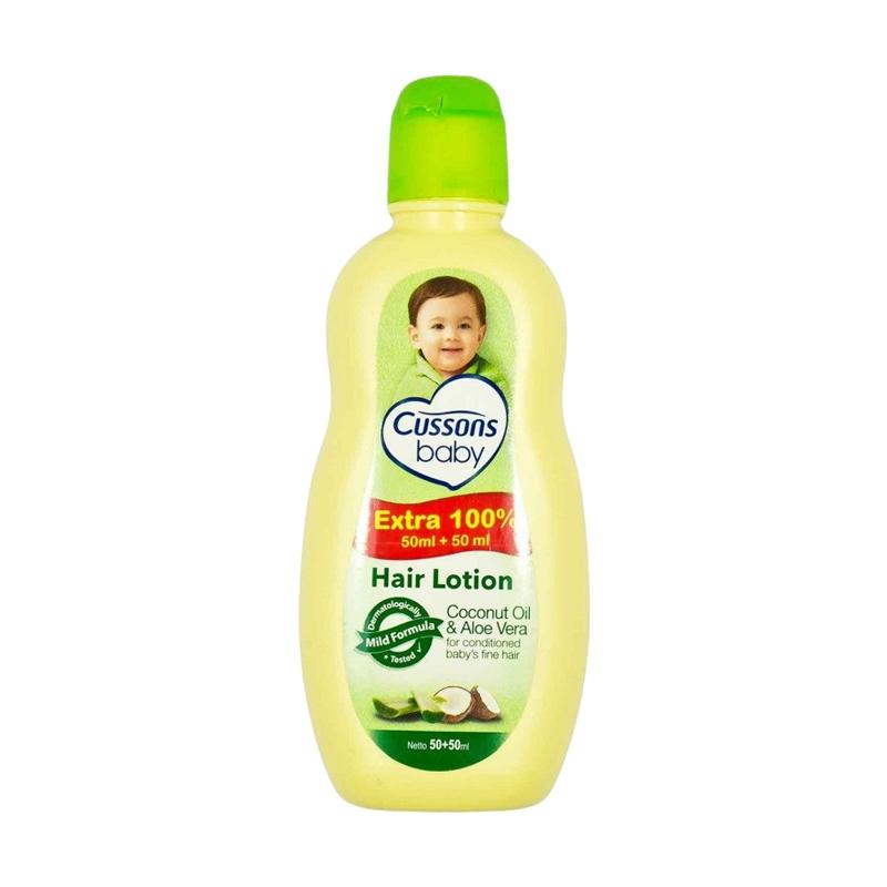 Cussons Baby Hair Lotion Coconut Oil and Aloe Vera [50+50 mL]