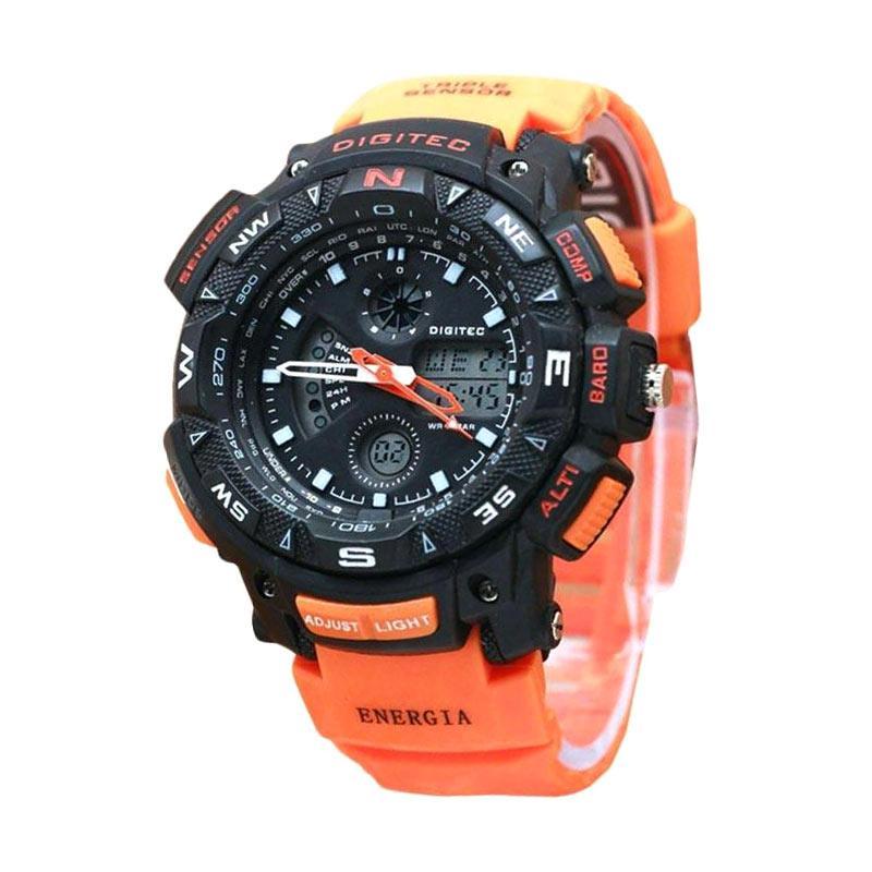 Digitec Dual Time H130D48DG2044TORGH Jam Tangan Pria - Orange Hitam