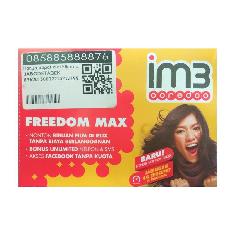 Indosat IM3 Nomor Cantik HOKI 08 588 58888 76 Kartu Perdana [4G LTE]