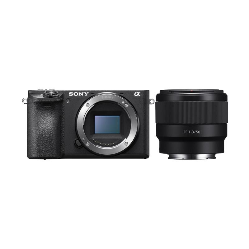 SONY Alpha A6500 Body Only with FE 50mm F1.8 Kamera Mirrorless