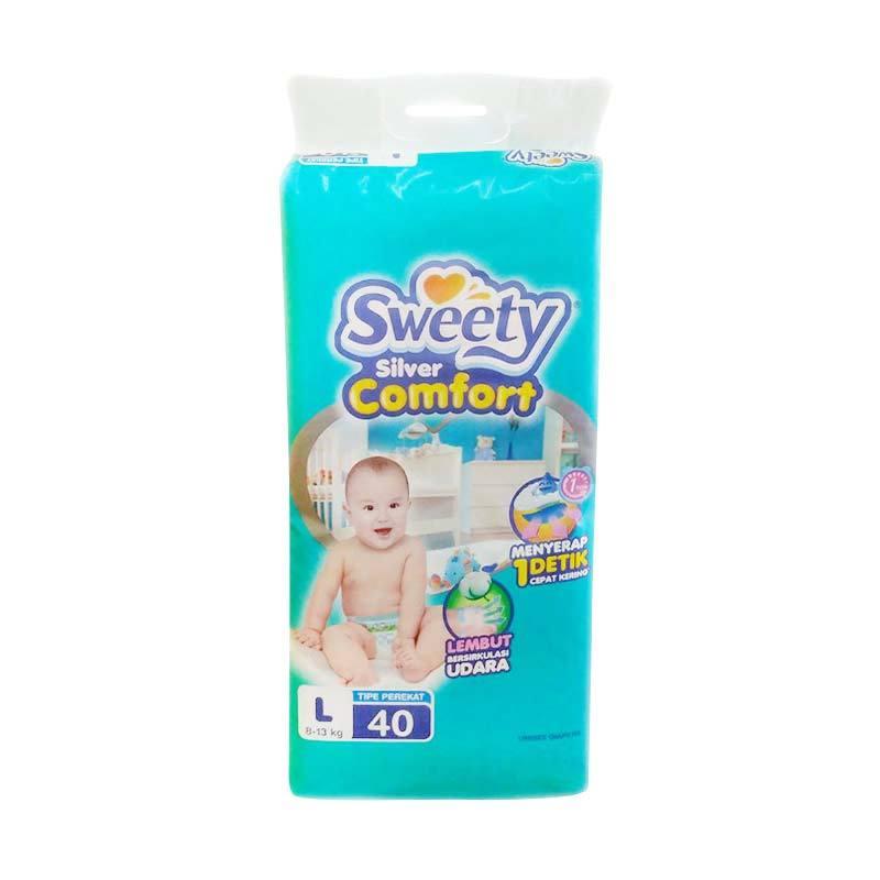 Sweety Silver Comfort Tape Popok Bayi [Size L/40 Pcs]