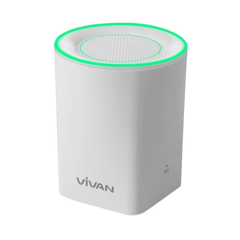 harga Vivan VB350 Bluetooth V3.0 Mini Speaker with Light - Putih Blibli.com