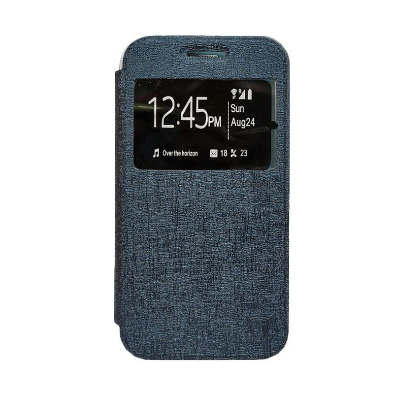 Zagbox Flip Cover Casing for Samsung Galaxy J1 Mini - Biru Dongker