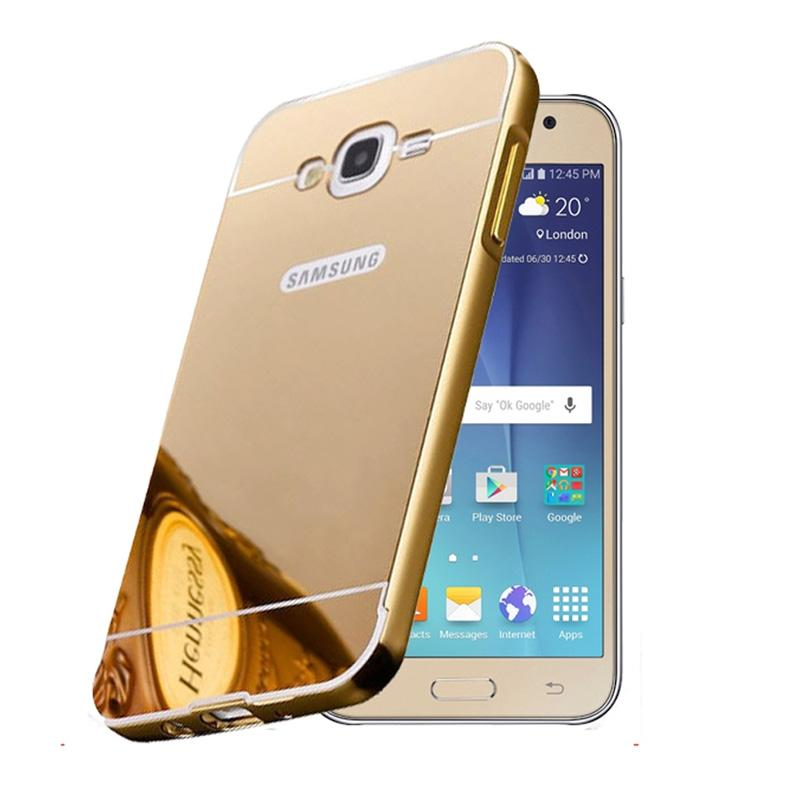 Bumper Mirror Sliding Casing for Samsung Galaxy S3 - Gold
