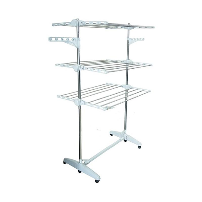 harga Korean Drying Rack Stainless Steel Jemuran Baju Korea Blibli.com