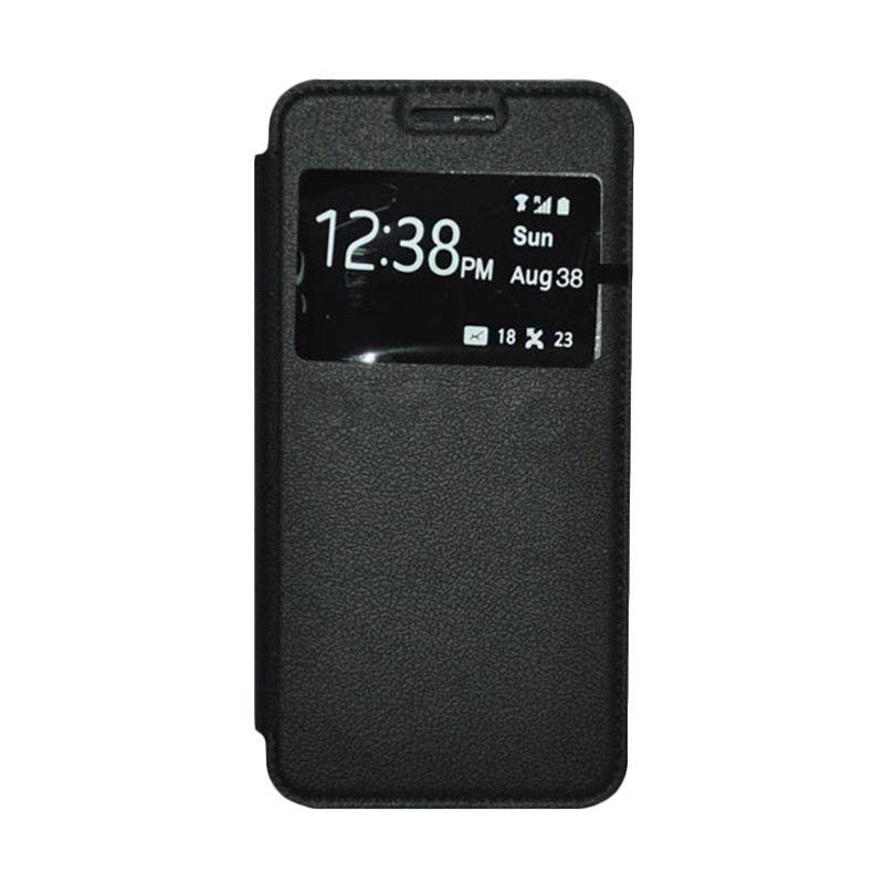 OEM Book Cover Leather Casing for Samsung Galaxy Alpha - Black