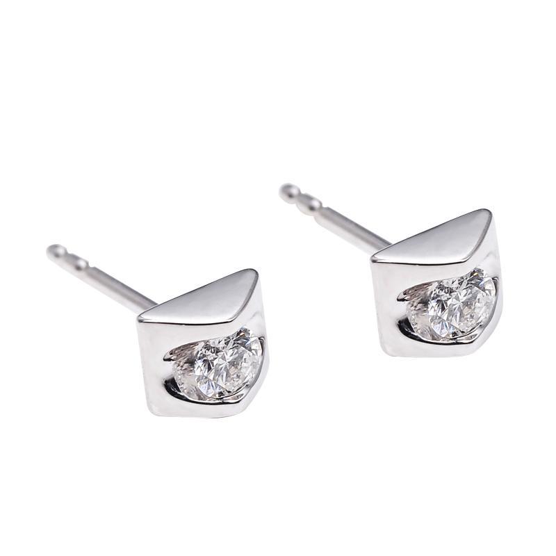 Tiaria DHTXHED002 Anting Emas Putih dan Berlian - White Gold [18K]