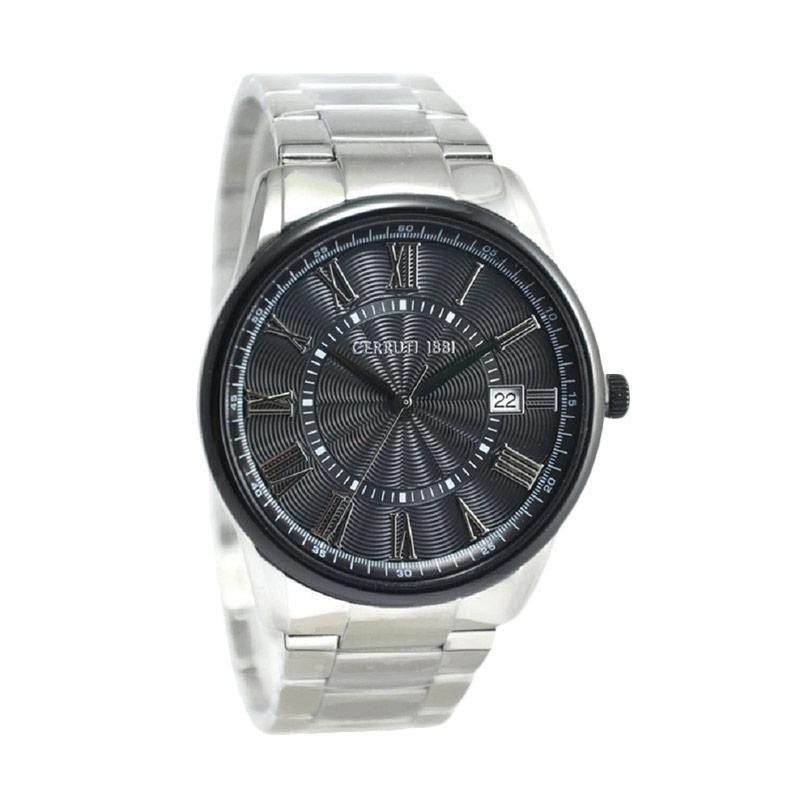 Cerruti CRA103STB02MS-1 Jam Tangan Pria - Silver Hitam