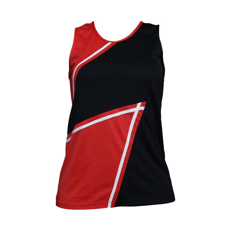 harga Lasona BRP-2994-M Baju Atasan Panjang Senam Wanita - Hitam Merah Blibli.com