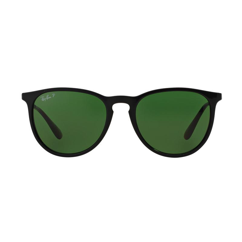 Ray-Ban RB4171F-601-2P Erika F Sunglasses - Black Polar Green [Size 54]