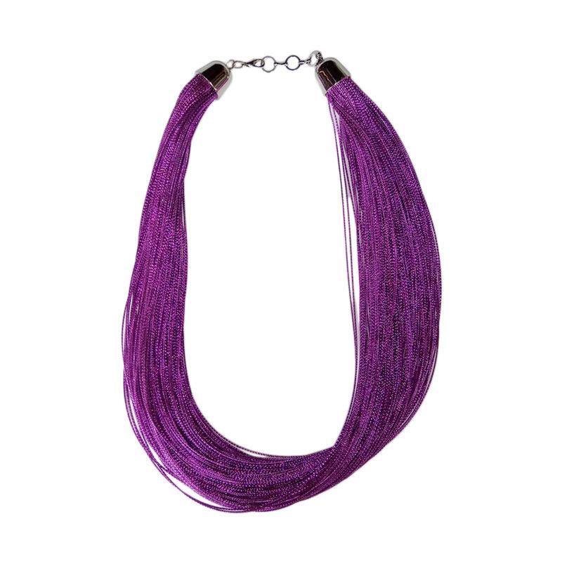 Tata Bali Shop 004 - Kalung Fashion Wanita Glitter - Purple
