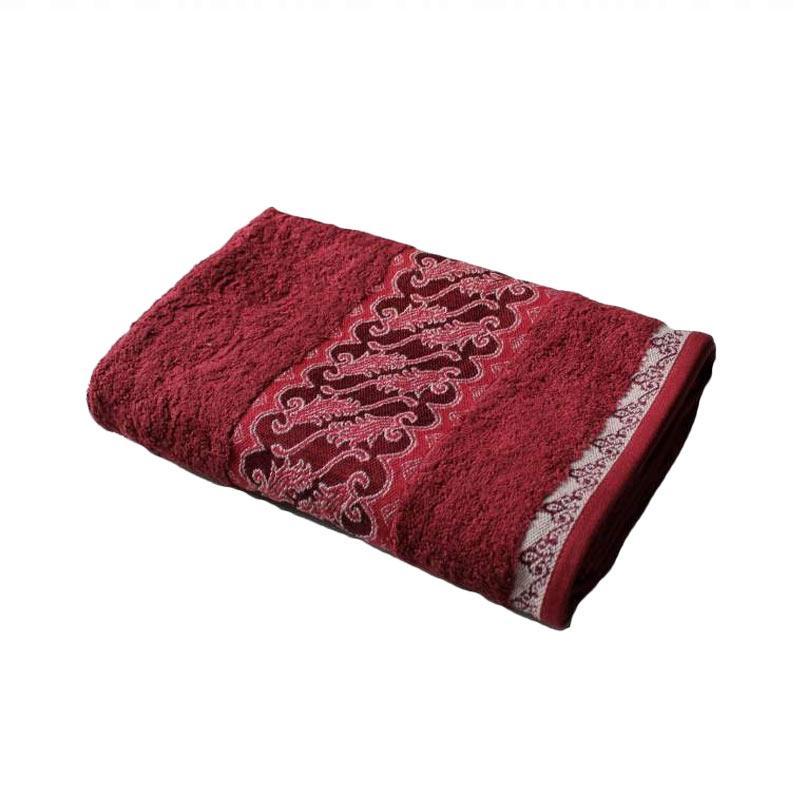 harga Terry Palmer Premium Motif Batik Asih Handuk Mandi - Maroon [70 x 140 cm] Blibli.com