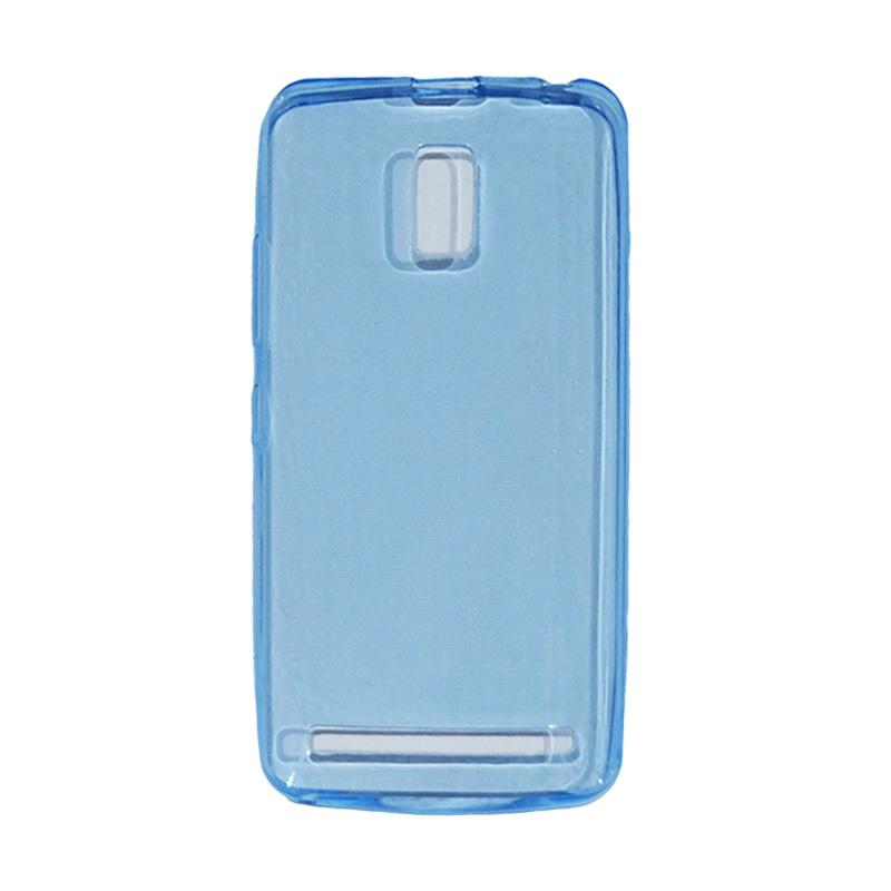 VR Ultra Thin Silicone Softcase Casing for Lenovo A6600 - Blue