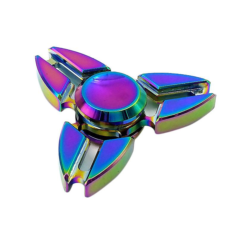 EPU Fidget Spinner 3 Side Rainbow Mainan Anak