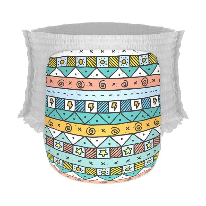 Happy Diapers Pant Popok Bayi - Sunny Tribal [Size L/26 pcs/A05]