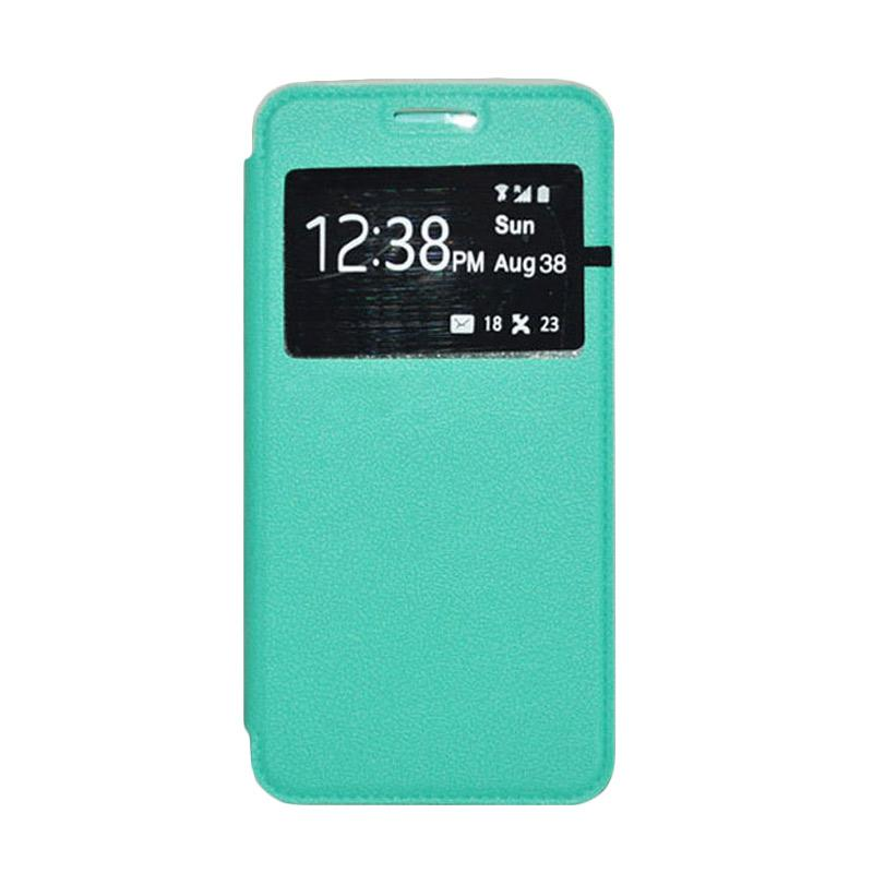 OEM Book Cover Leather Casing for Samsung Galaxy Mega 2 - Green