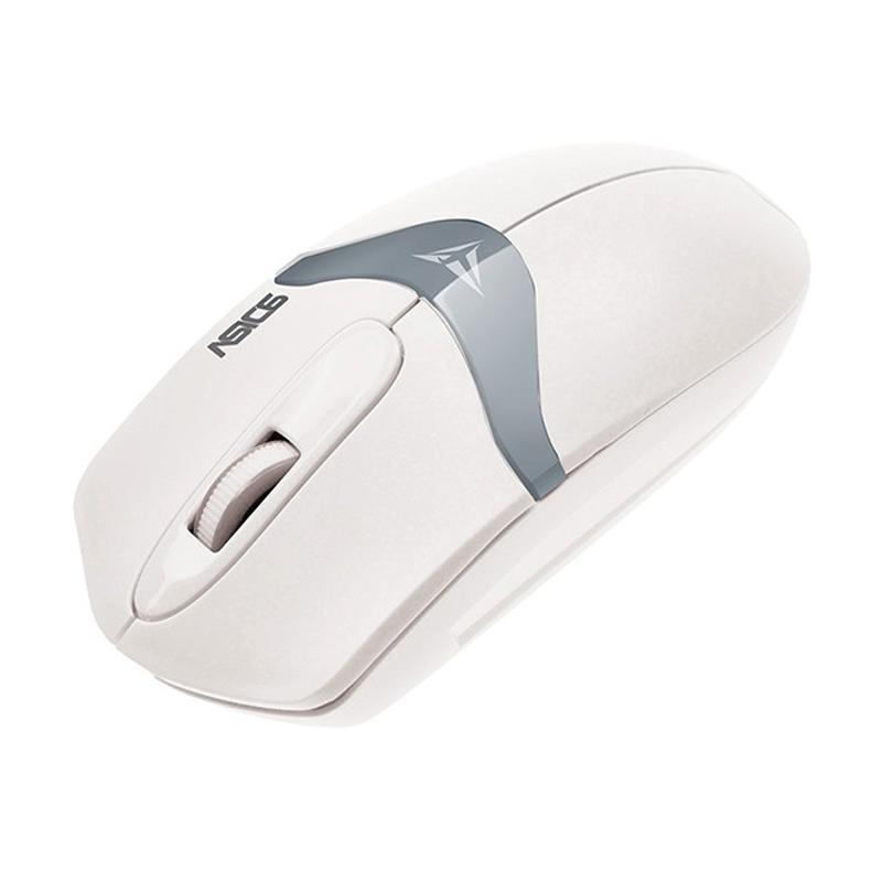 Powerlogic Alcatroz Asic 6 USB Mouse - White Grey