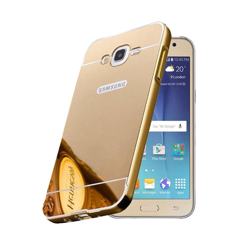 Bumper Case Mirror Sliding Casing for Samsung Galaxy J1 2016 - Gold