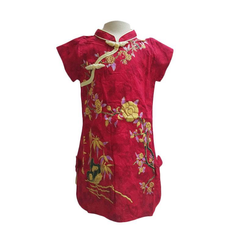 Chloe Babyshop F729 CNY Chongsam Flower Dress Anak