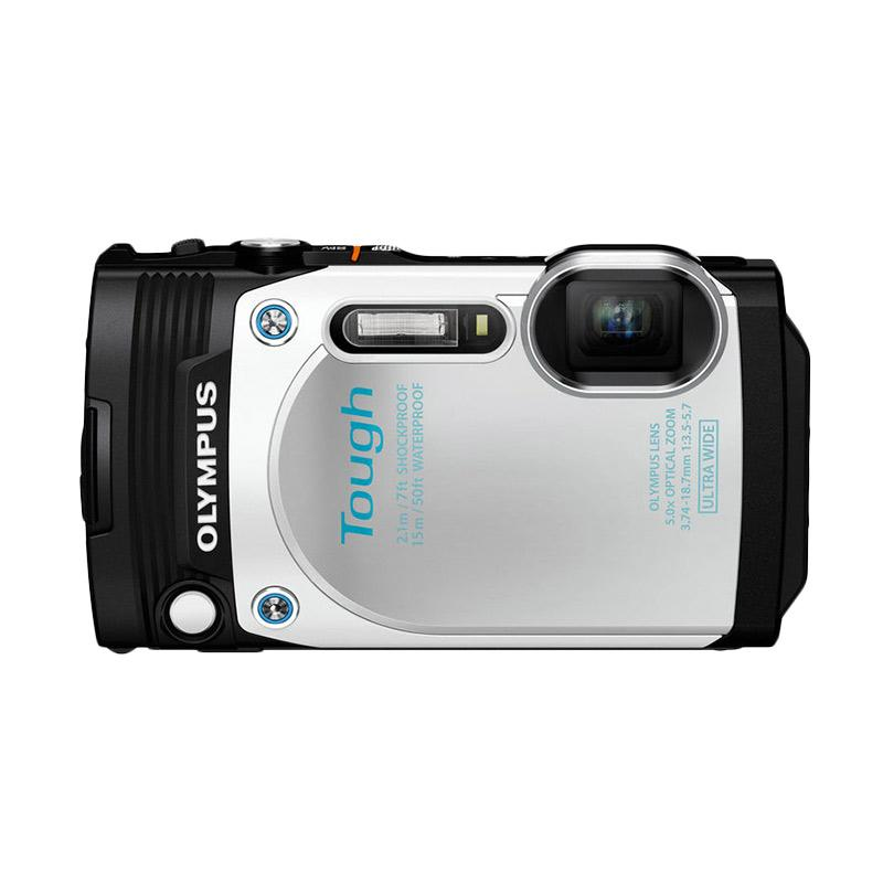 Olympus Stylus Tough TG-870 Kamera Pocket - White + Free SDHC 8GB