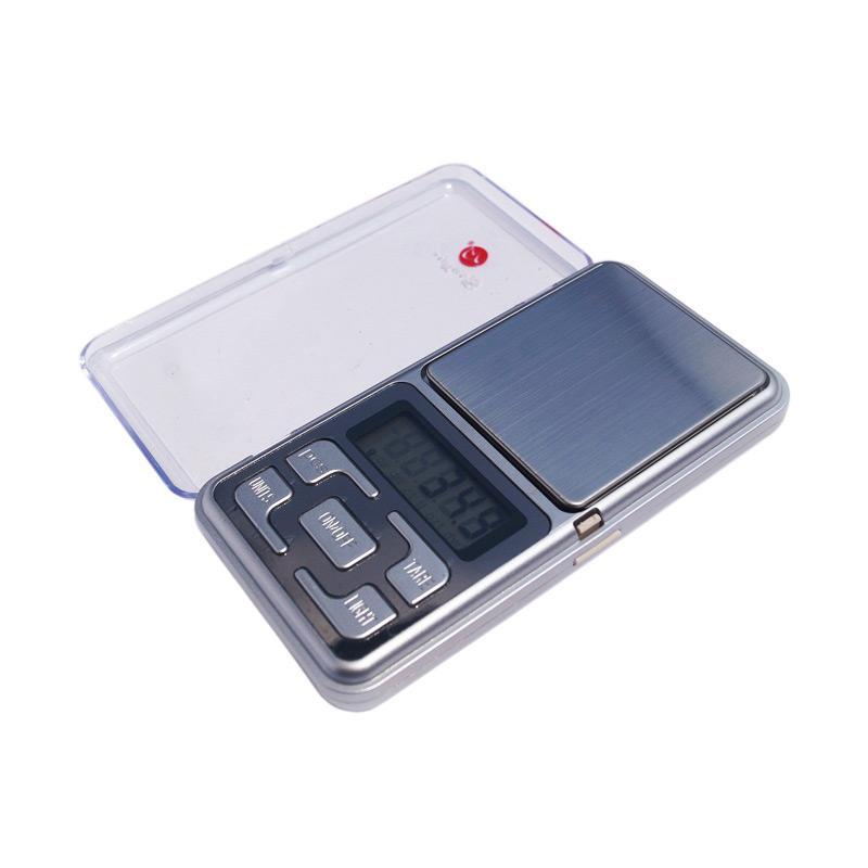 Mini Digital Pocket Scale Timbangan Emas dan Akik 0.1g- Silver [500 g]