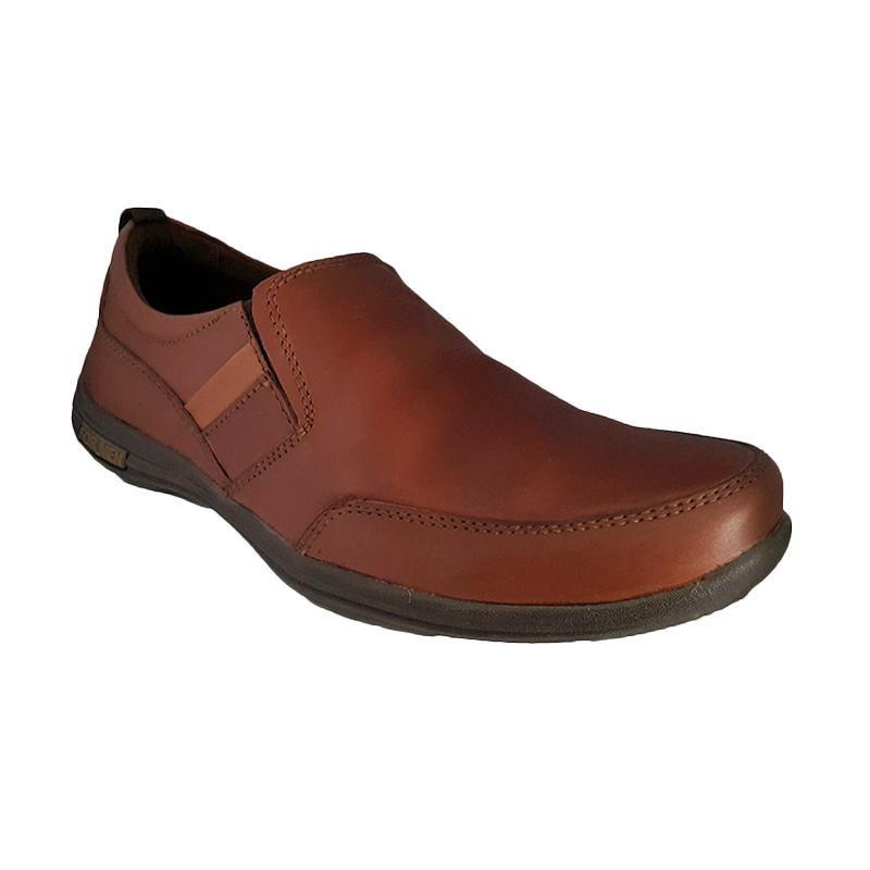 Handymen Formen FM 03 Kulit Loafers Formal Sepatu Pria - Light Brown
