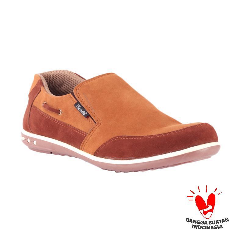 Blackkelly Slip On Durability Kulit LFS 668 Sepatu Pria - Coklat Muda