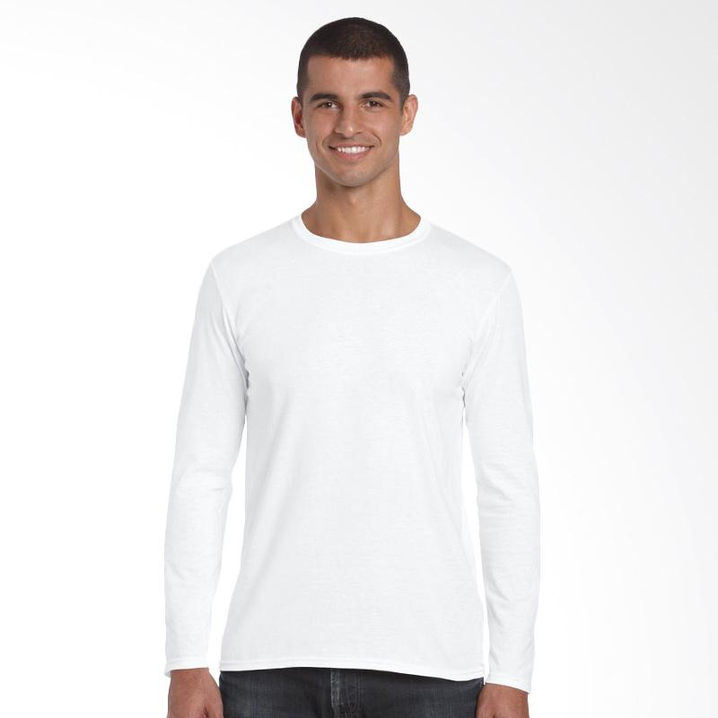 Gildan Premium 76400 Kaos Polos Long Sleeve Original [White]