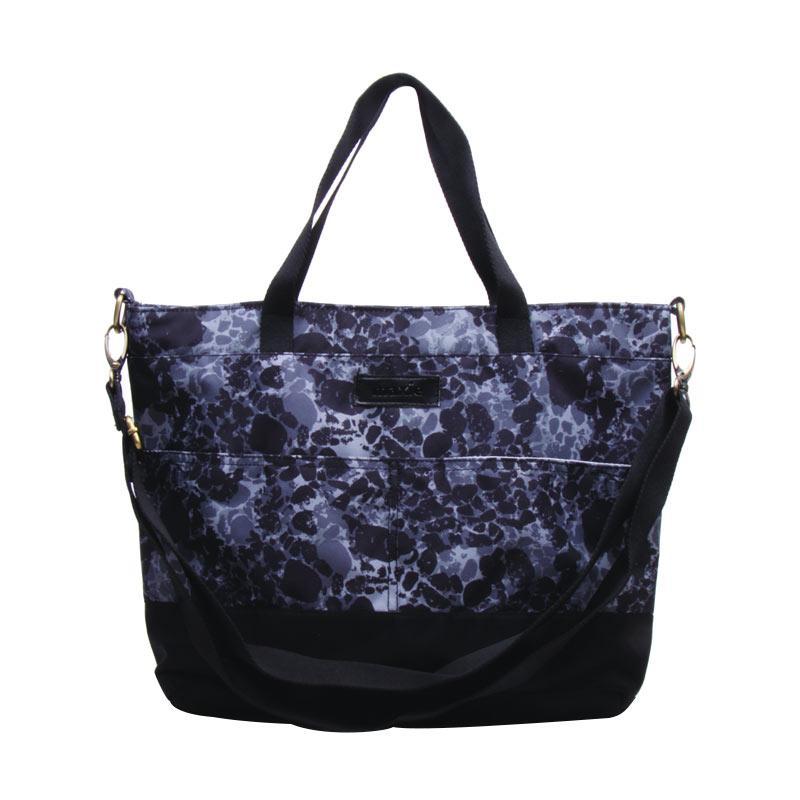 Maxie BTO.42 Slpash Pattern Tote Bag Sling Tas Wanita - Black