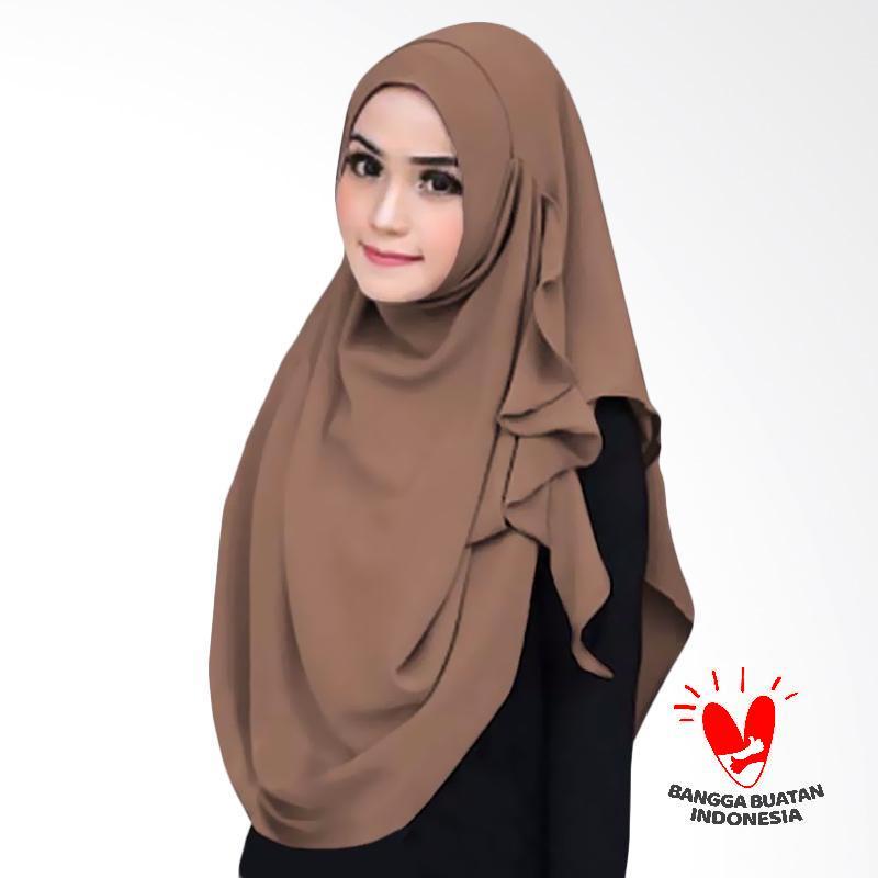 Milyarda Hijab Flowing Kerudung Instant - Brown