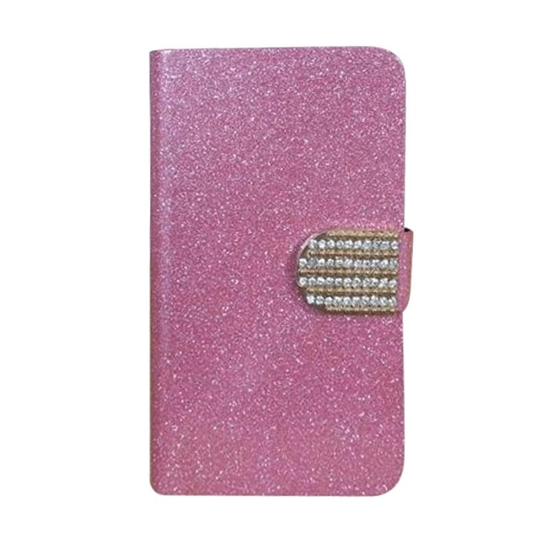 OEM Case Diamond Cover Casing for Samsung Galaxy A9 - Merah Muda