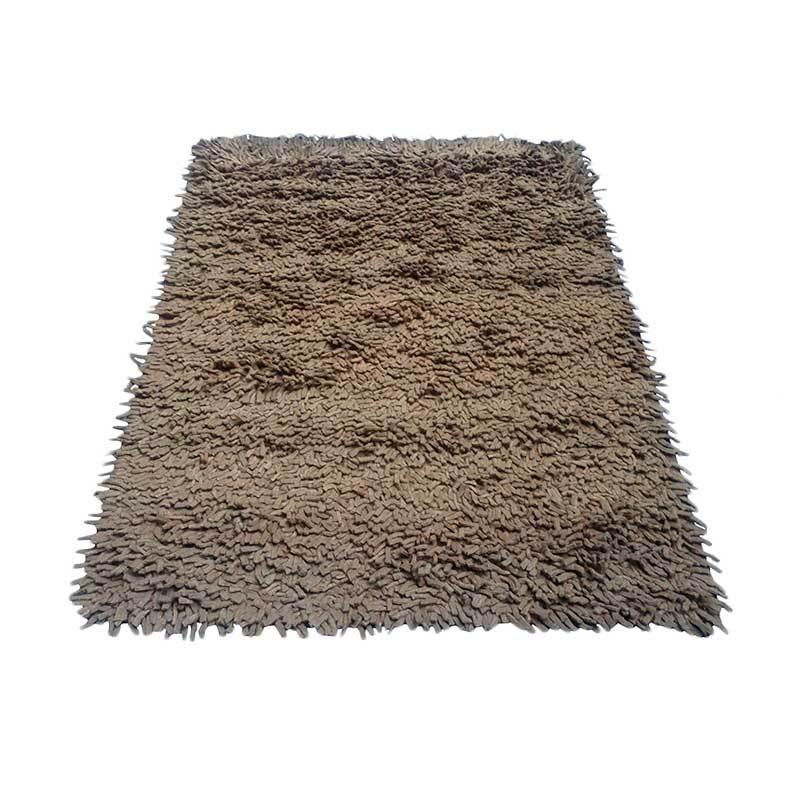 Tren-D-rugs Karpet Shaggy Finger Felt - Brown [120 x 160 cm]