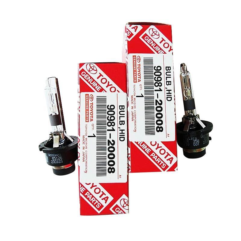 JMS 90981-20008 Lampu HID Xenon D2R HID Xenon Bulbs - White [1 Pair/2 Pcs/6000k]