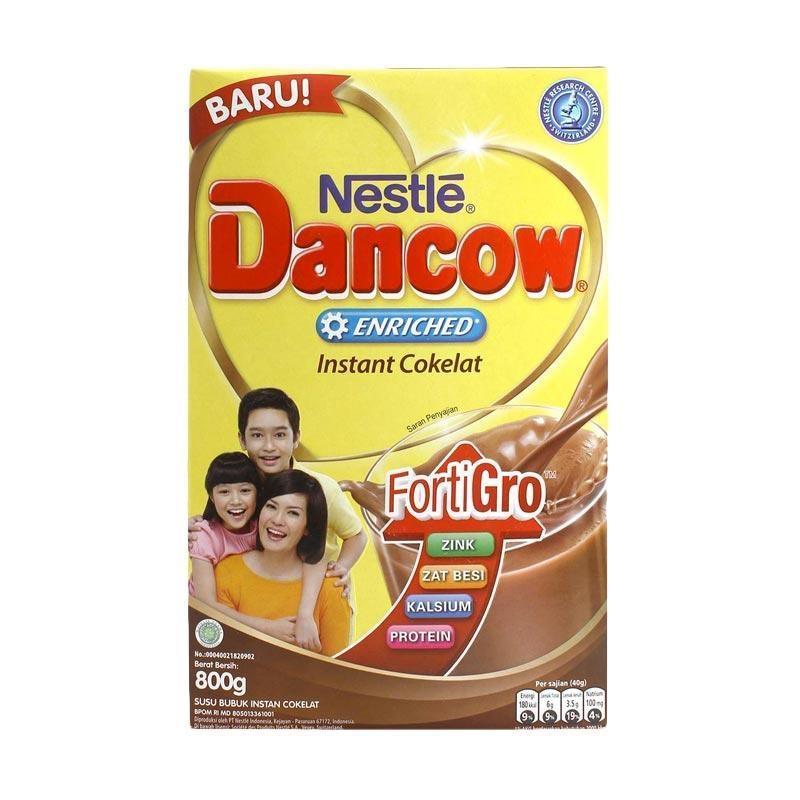 Dancow Instant FortiGro Coklat Susu Formula [800 g/ Box]