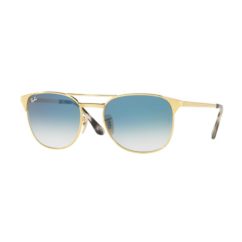 Ray-Ban Rb3429M 001 3F Gradient Blue Lens Sunglasses - Gold [Size 58]