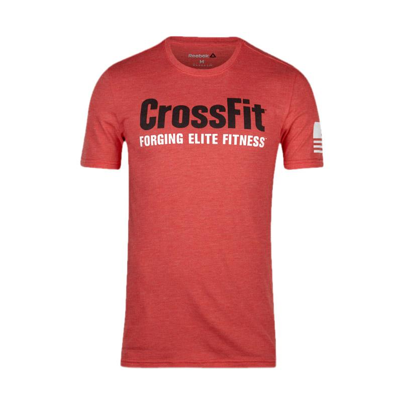 Reebok AY1028 Cross Fit Forging Elite Riot Fitness Tee - Red