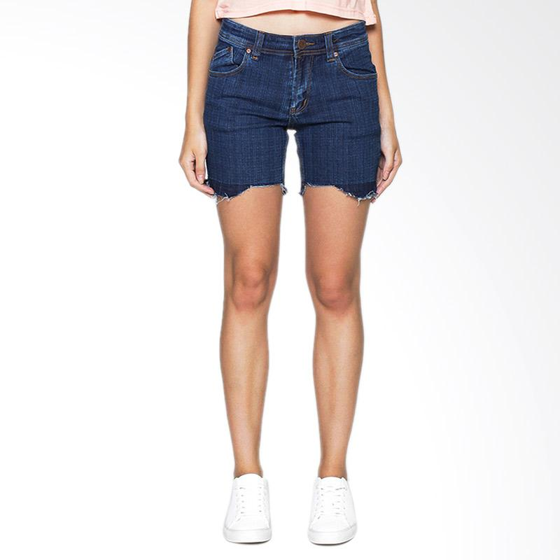 Kelebihan Kekurangan 2Nd RED Cropped Denim Shorts Straight 261618 Celana Wanita - Blue Dan Harganya