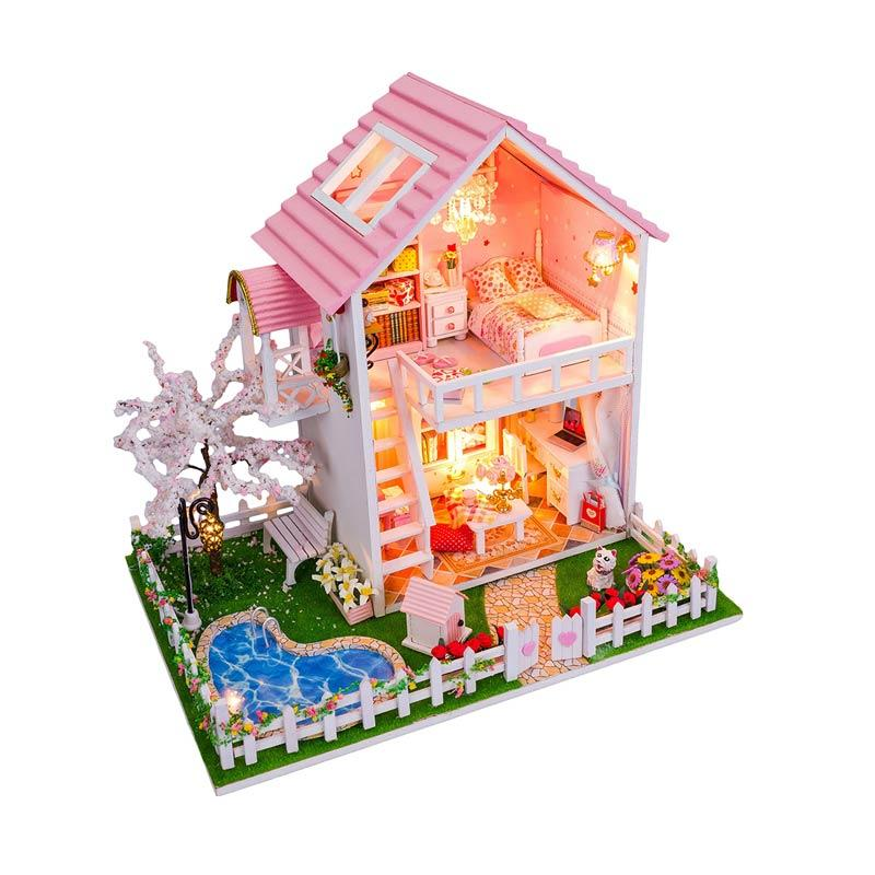 harga A1Toys DIY Villa Music Plus Lampu LED MS Rumah Miniatur Blibli.com