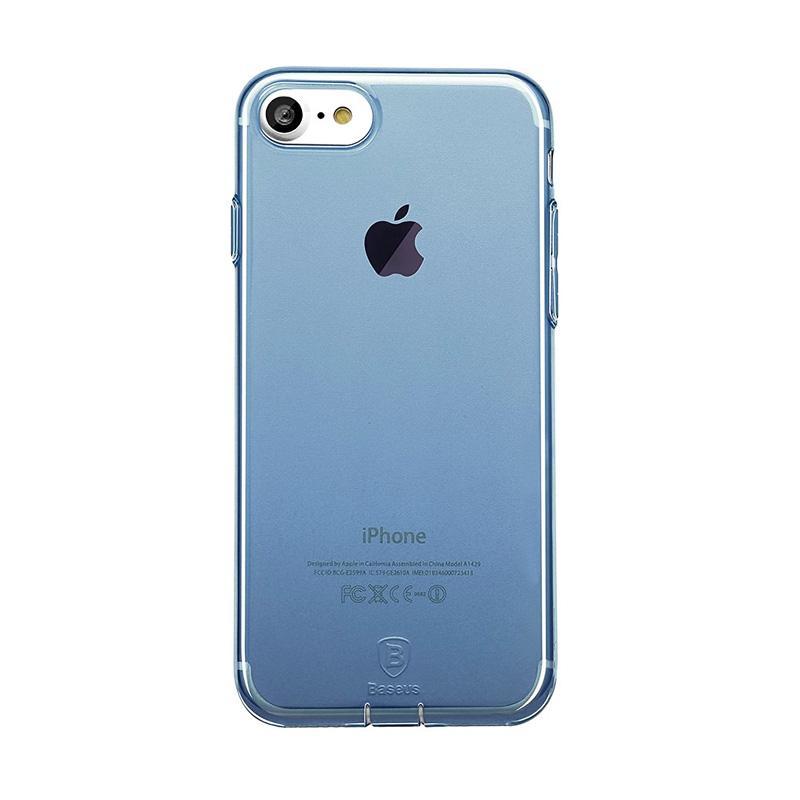 harga Baseus Simple TPU with Pluggy Casing for iPhone 7 4.7 Inch ? Biru Blibli.com