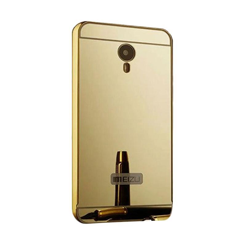 Bumper Case Mirror Sliding Casing for Meizu M2 - Gold