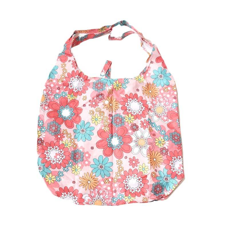 Deeneve Foldable Eco-Bag Floral Tote Bag - Pink
