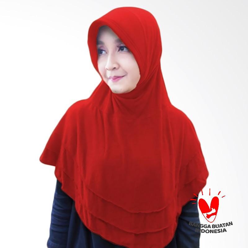 Milyarda Hijab Bergo Plat Kerudung Instant - Merah