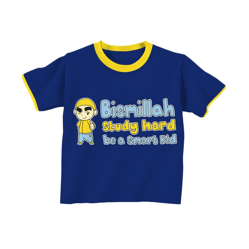 Aitana Kids AiK-16-009 Studyhard Kaos Muslim Anak Laki-Laki - Biru